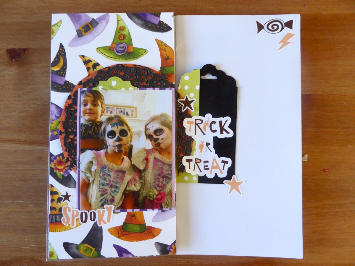 Traveler's Notebook Layout : Trick or Treat